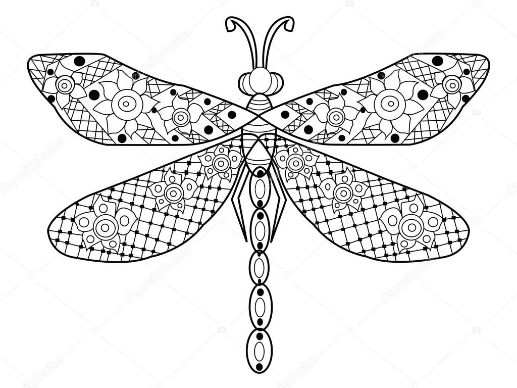 Dragonfly Outline Drawing at GetDrawings.com | Free for personal use ...