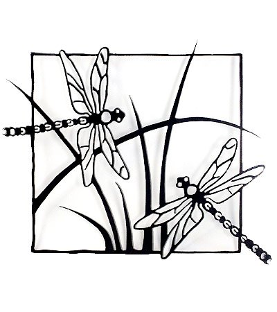 400x450 Dragonflies Steel Wall Sculpture Home Amp Kitchen