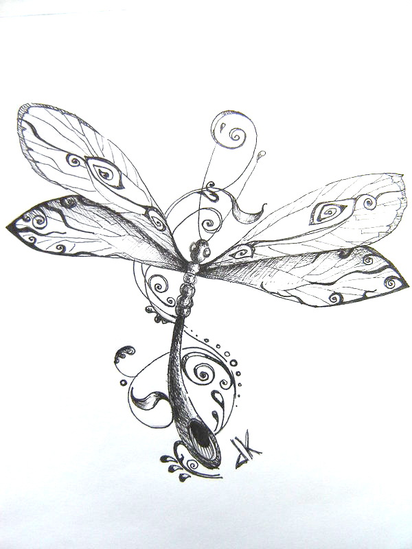Dragonfly Tattoo Drawing
