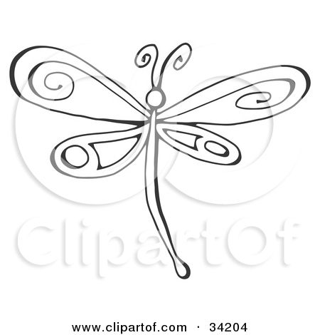 Dragonfly Wings Drawing