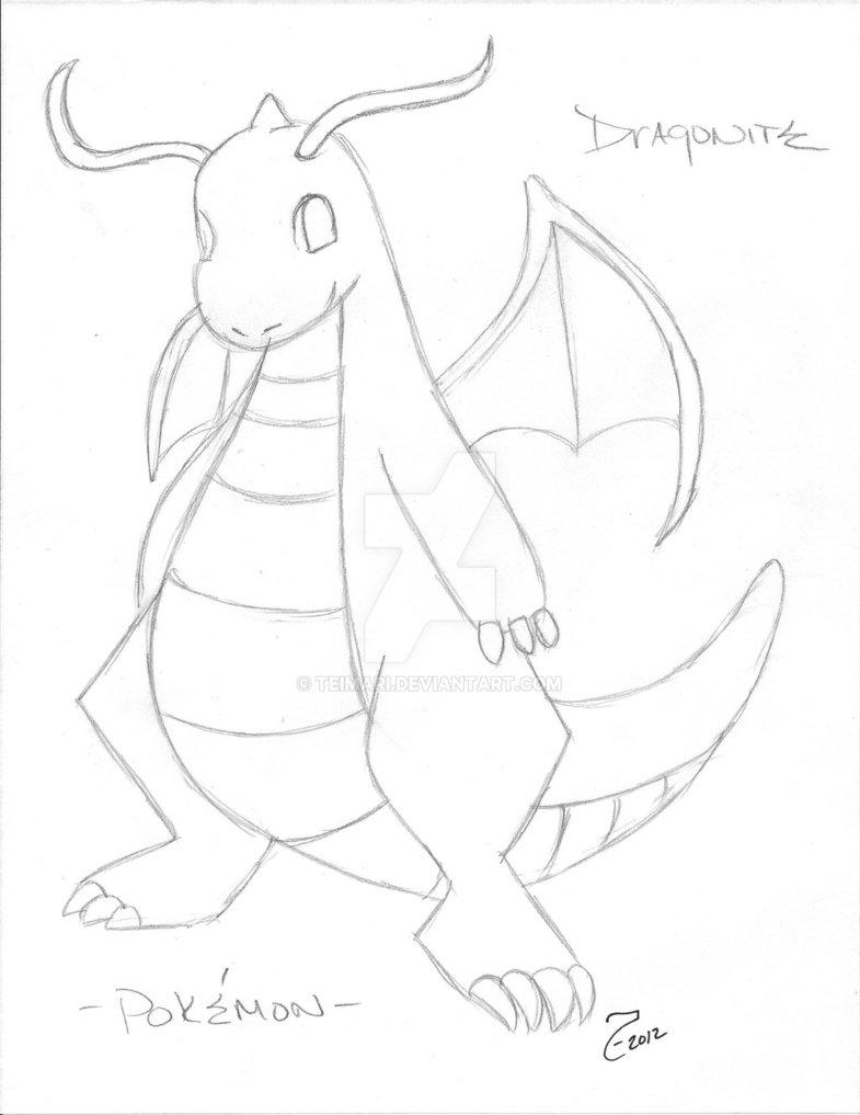 785x1017 Dragonite Pokemon By Teimari