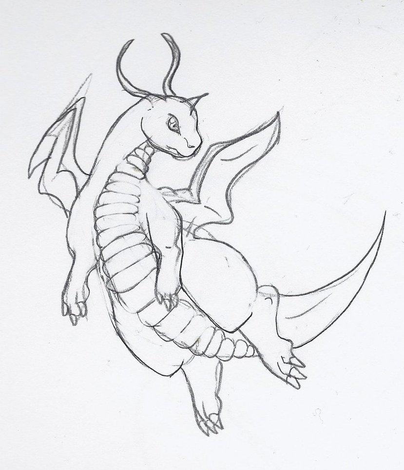 829x963 Dragonite Sketch By Arkani