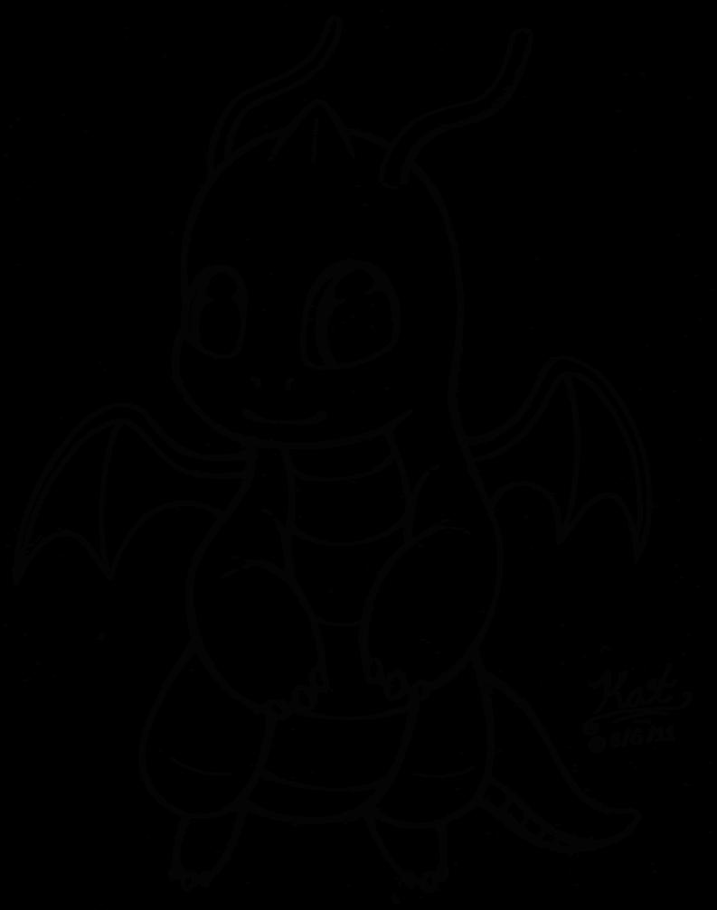 793x1007 Chibi Dragonite Lineart By Kaiya Ashigawa