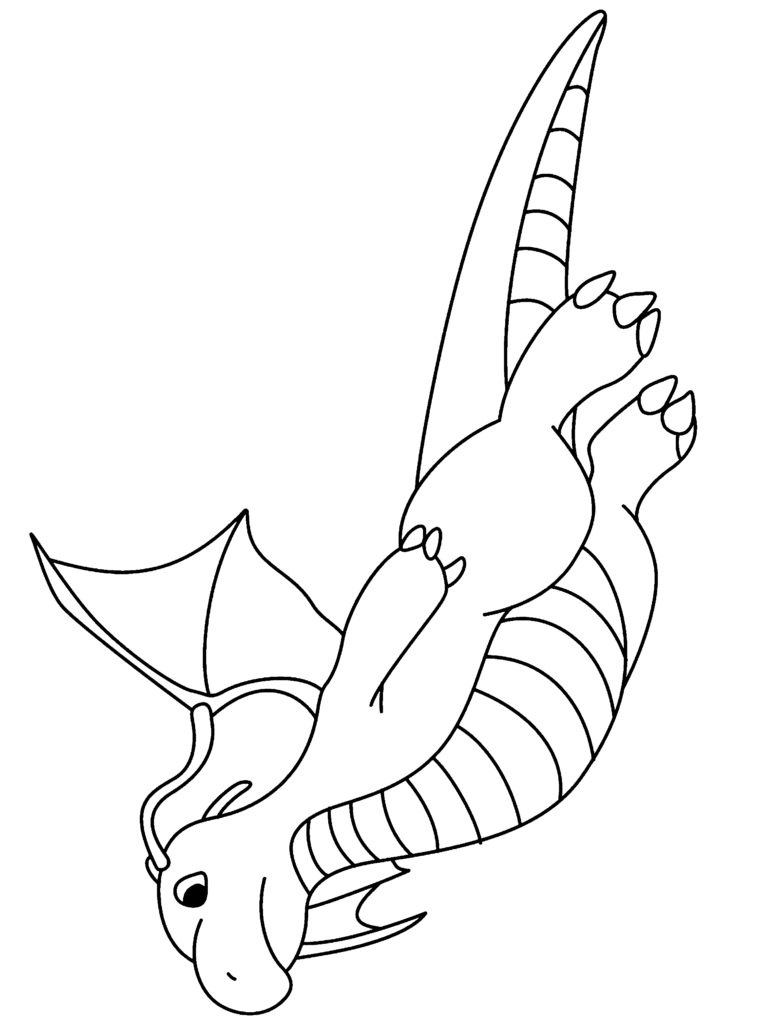 Superb 760x1024 Coloring Pages Surprising Pokemon Coloring Pages Dragonite Km7