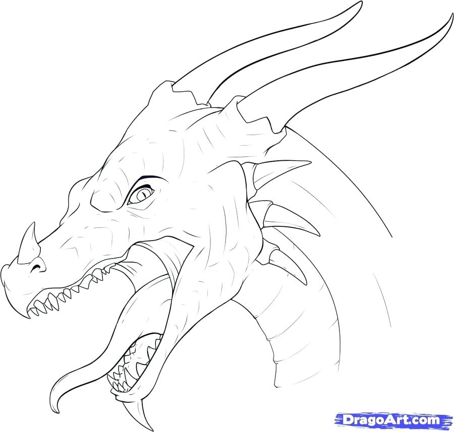 Dragons Head Drawing at GetDrawings.com | Free for personal use ...