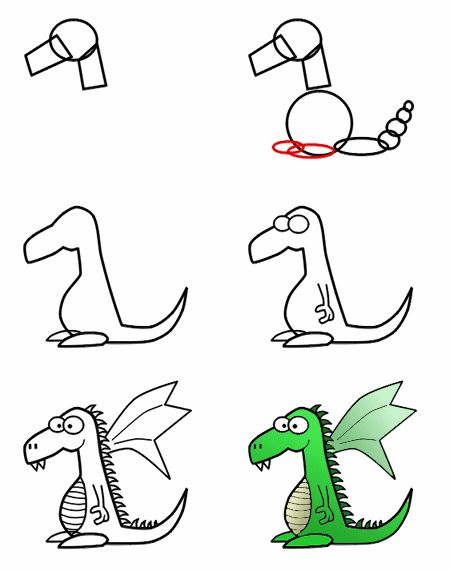 450x571 pictures easy step by step dragon