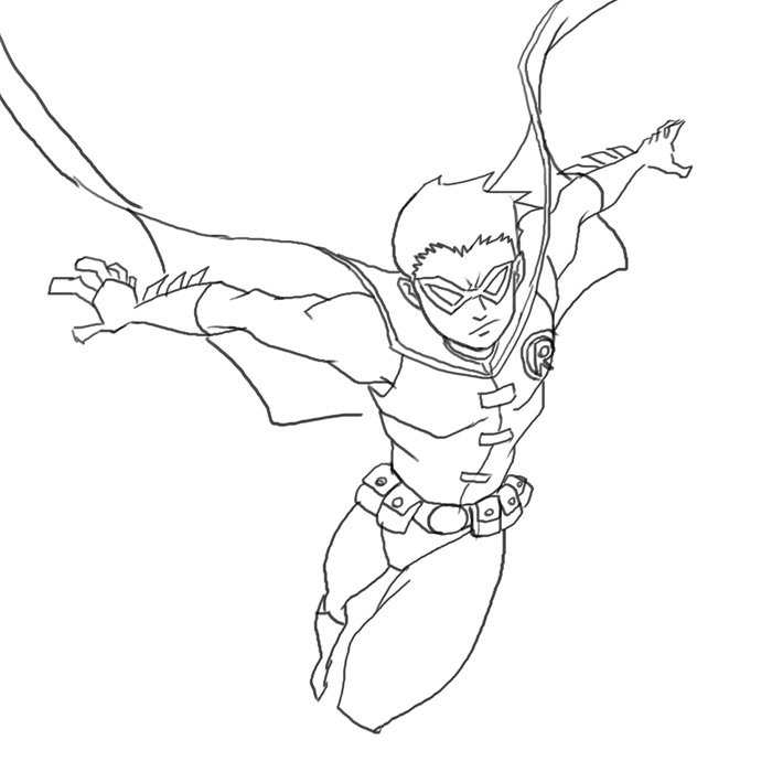 700x700 How To Draw Robin