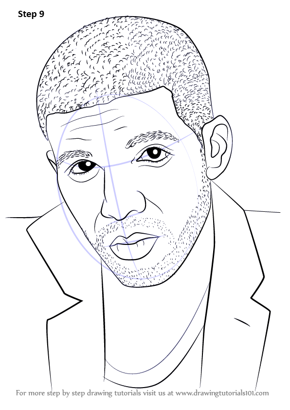 596x842 Learn How To Draw Drake (Rappers) Step By Step Drawing Tutorials