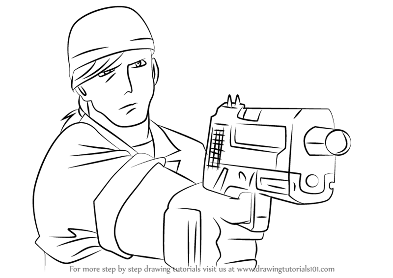 800x566 Learn How To Draw Drake Anderson From Read Or Die (Read Or Die