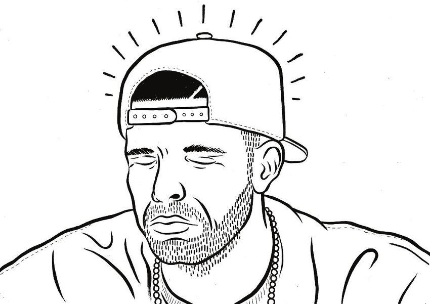 850x601 Drake Line Drawing