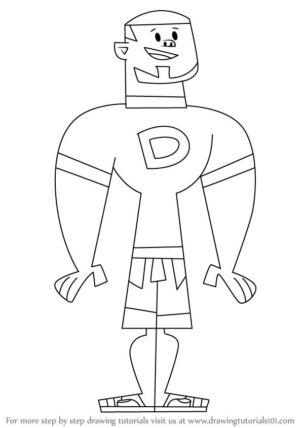598x844 Learn How To Draw Dj From Total Drama Island (Total Drama Island