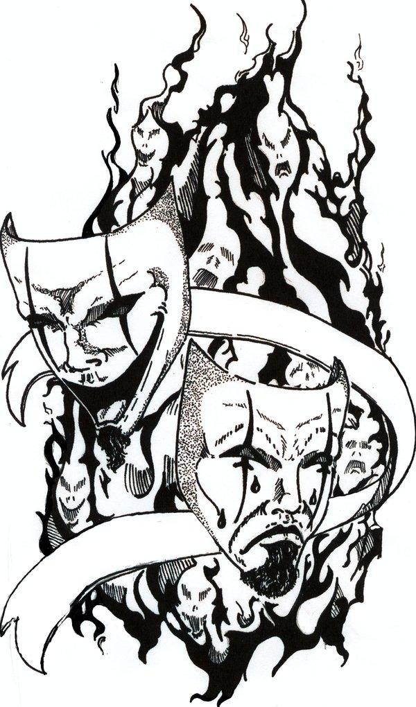 drama mask drawing at getdrawings com