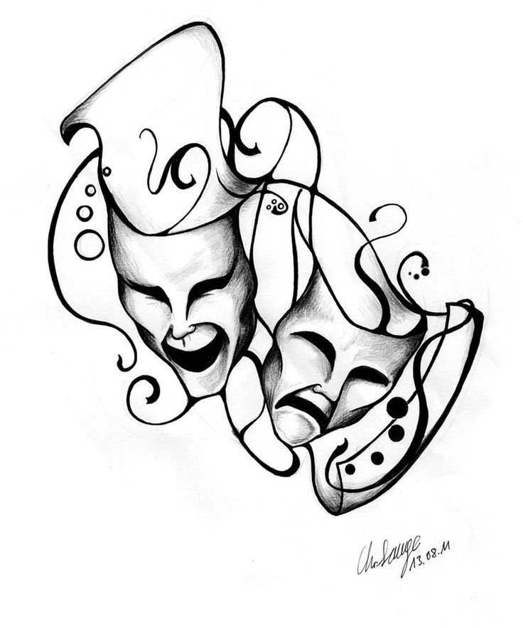 736x883 Best Theater Mask Tattoo Ideas On Theater Tattoo