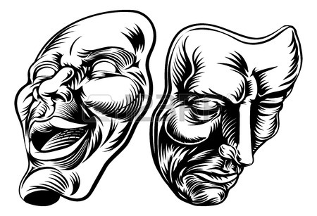 Drama Masks Drawing
