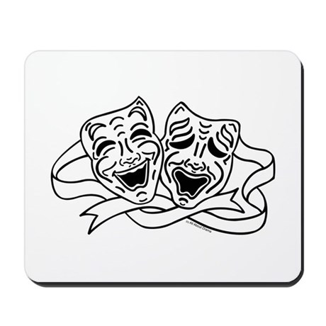 460x460 Theatre Masks Mousepads Buy Theatre Masks Mouse Pads Online