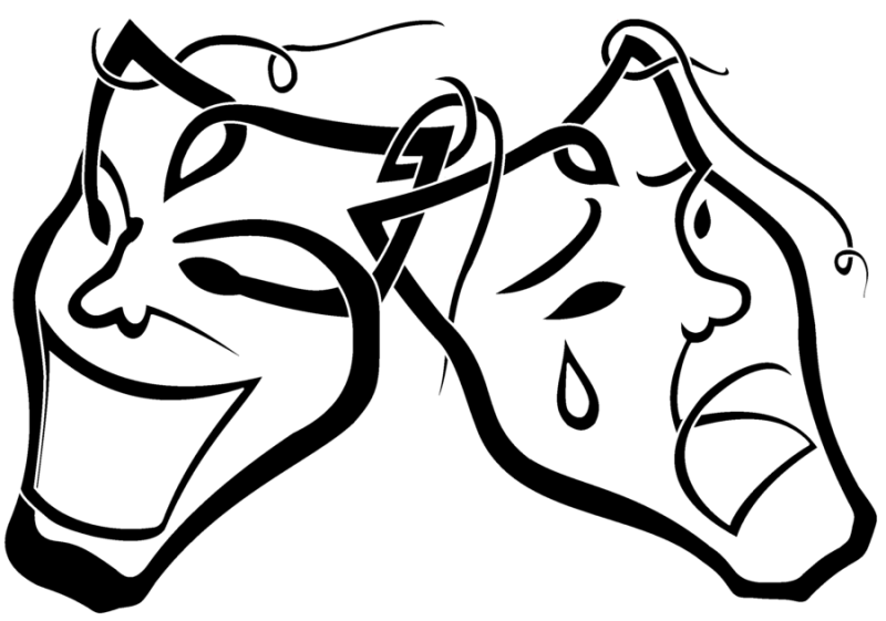 800x561 Drama Masks Clipart