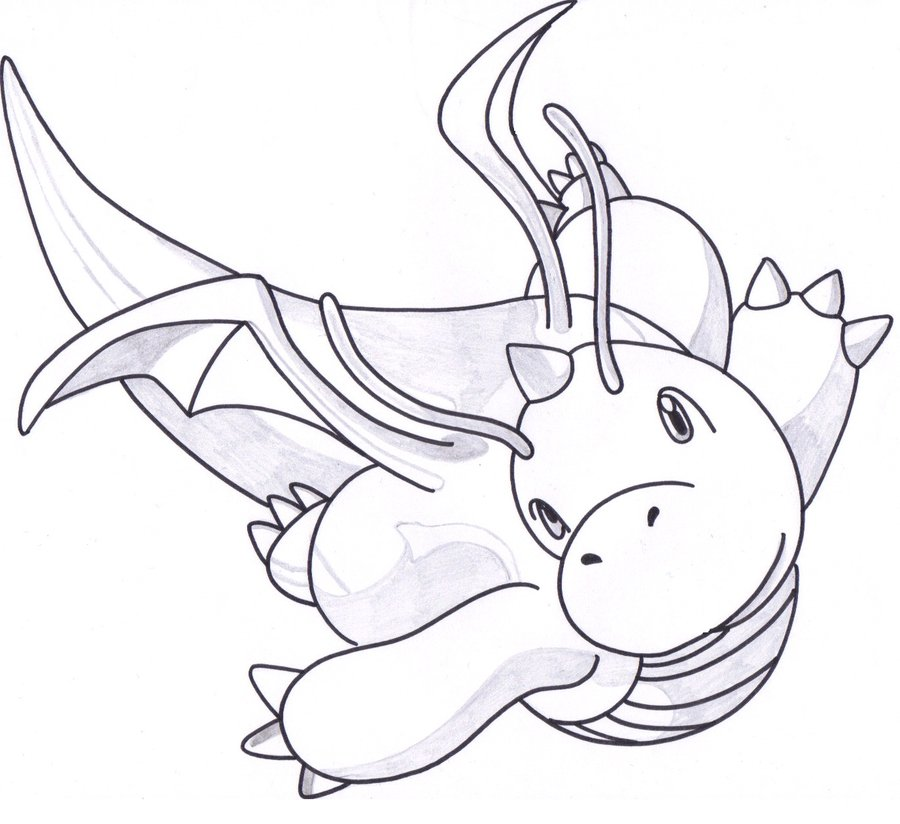 Dratini Drawing at GetDrawings Free for personal use