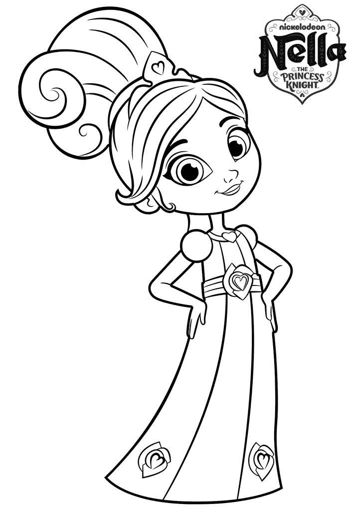 700x1024 8 Year Old Princess Nella Colouring Page