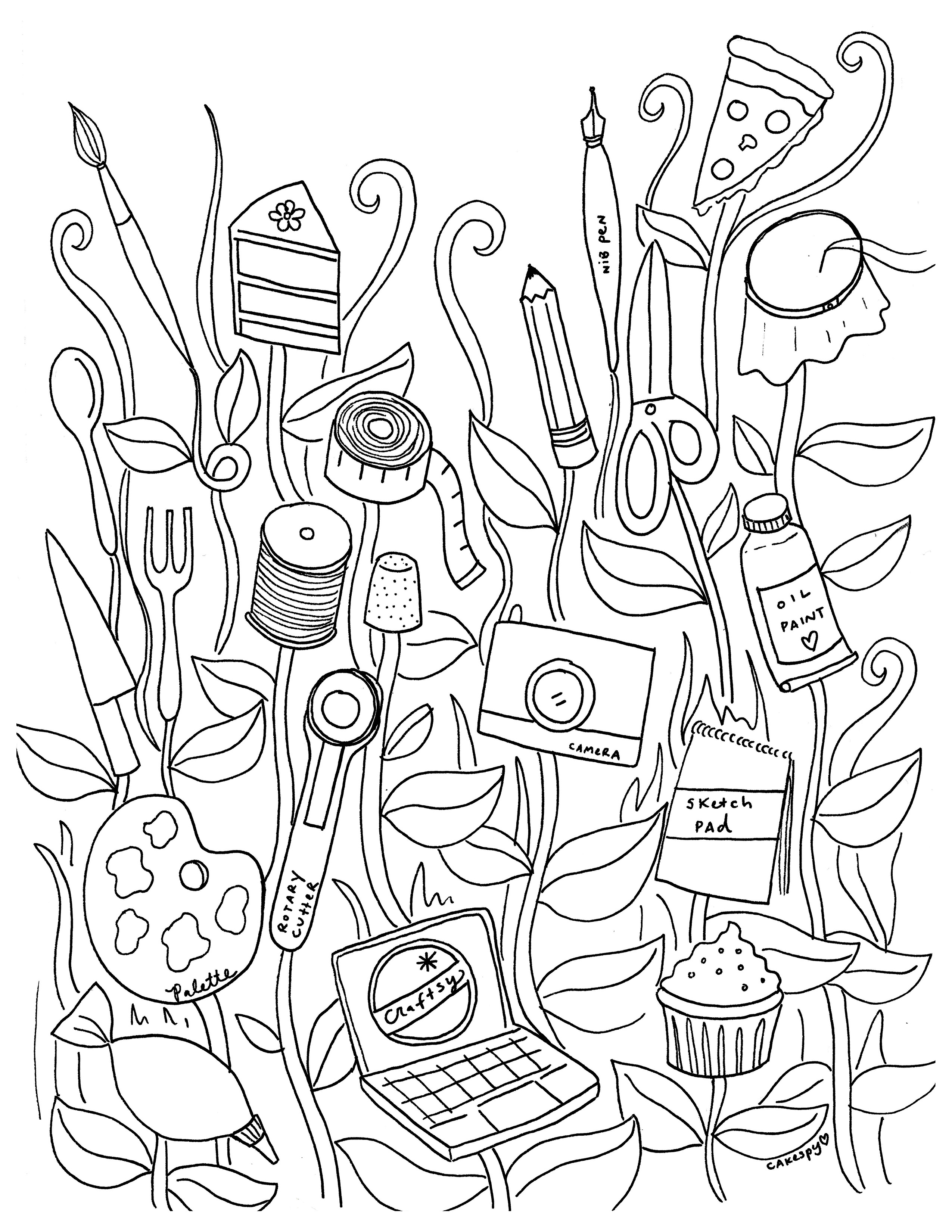 2550x3300 Free Coloring Book Pages For Adults