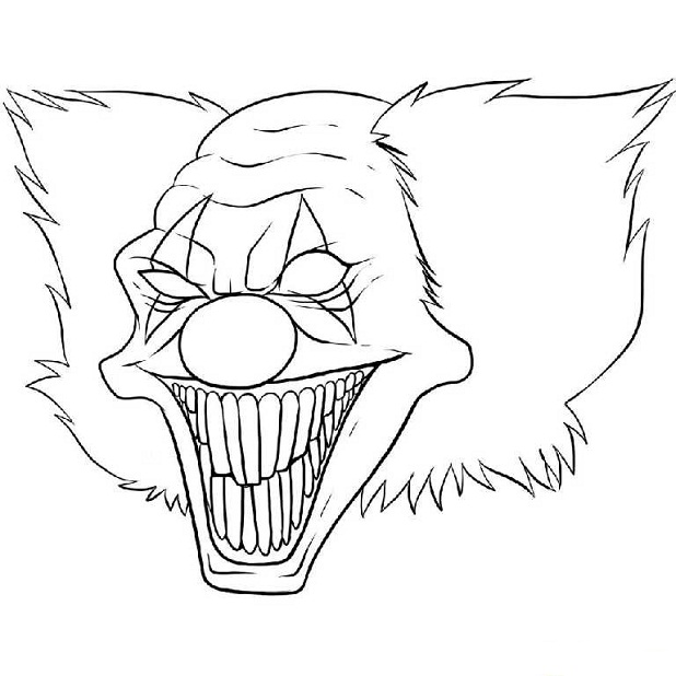 618x618 Evil Coloring Pages For Adults