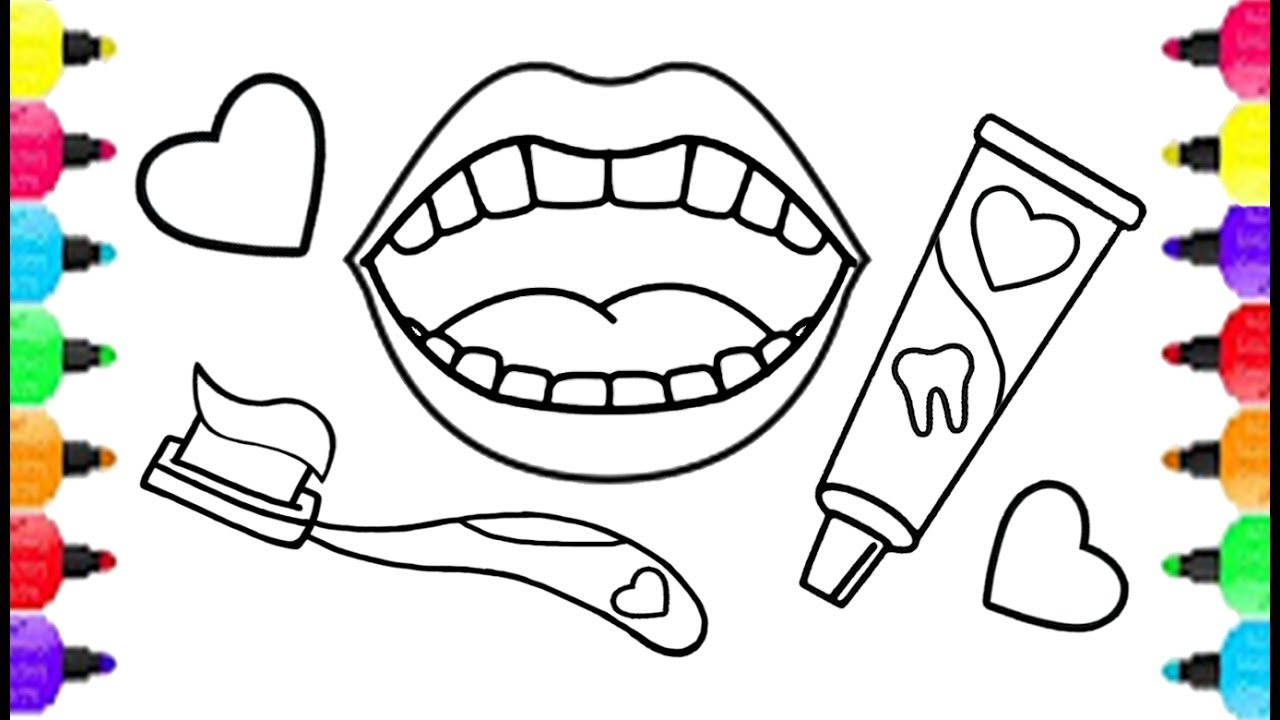1280x720 Baby Dental Care Coloring Pages How To Draw Baby Dental Care