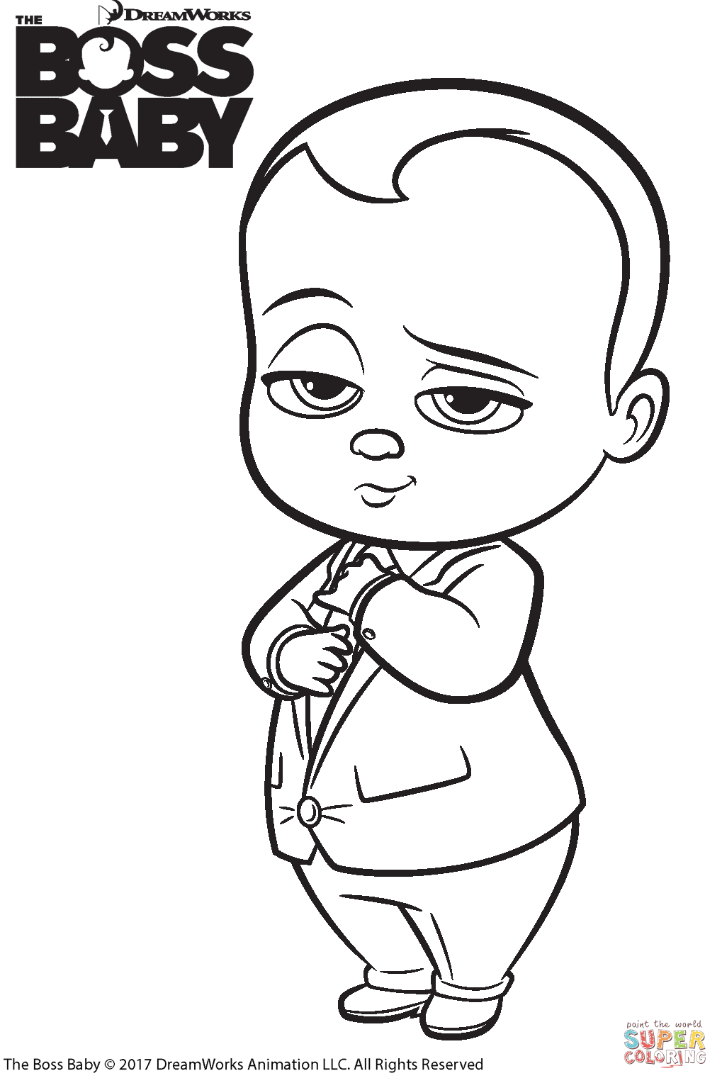 1019x1528 The Boss Baby Coloring Page Free Printable Coloring Pages