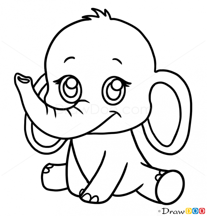 665x694 How To Draw A Elephant