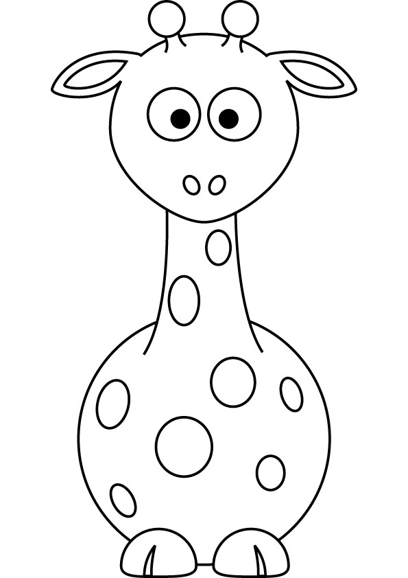 595x842 Baby Giraffe Coloring Pages