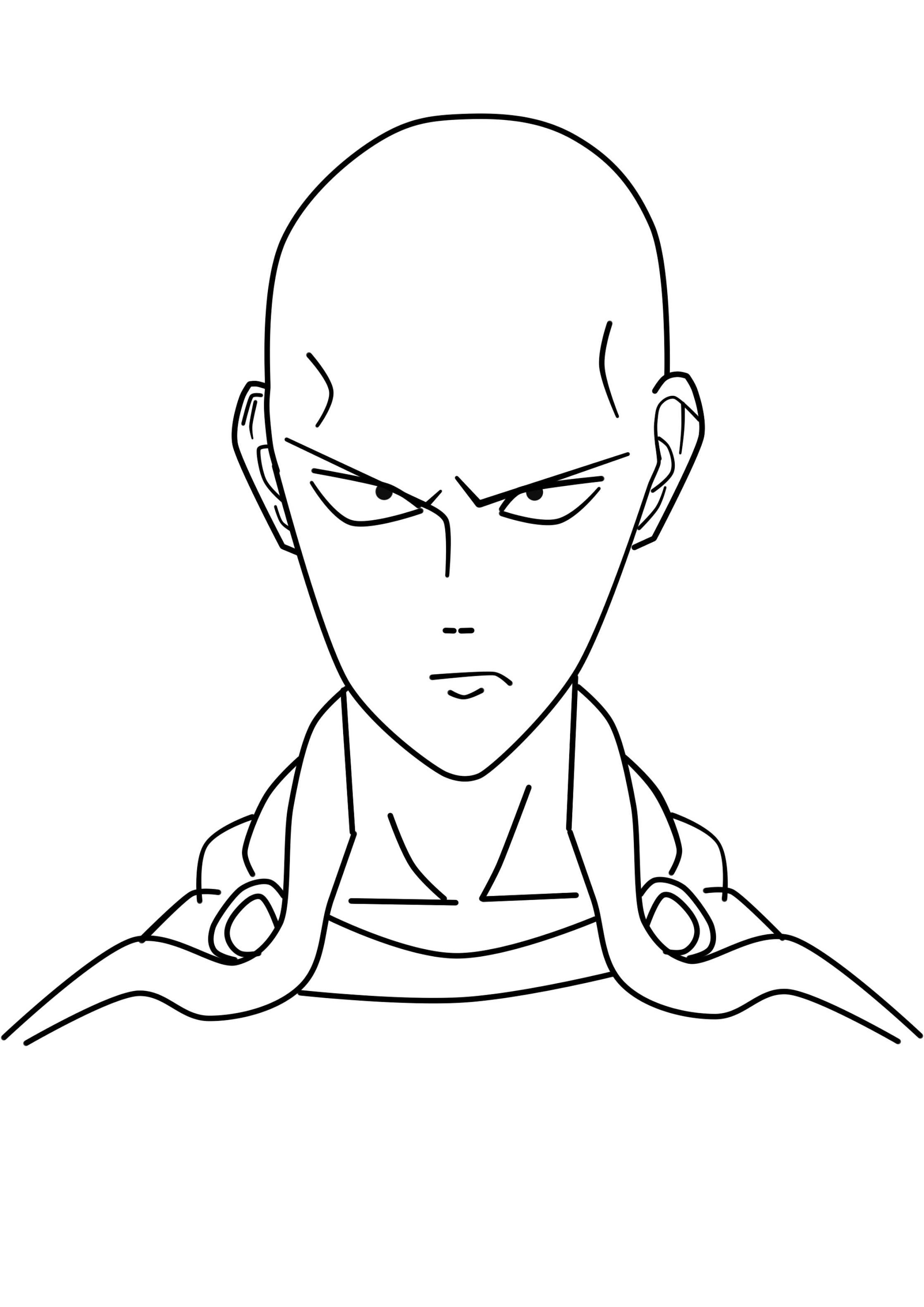 2235x3160 Simple Draw Saitama Painttool Sai For Beginner (With Mouse)