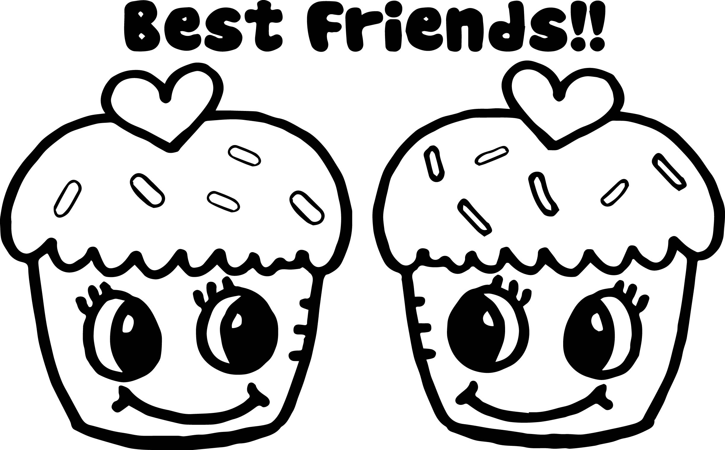 2446x1517 Friendship Coloring Page Luxury Cupcakes Best Friends Coloring