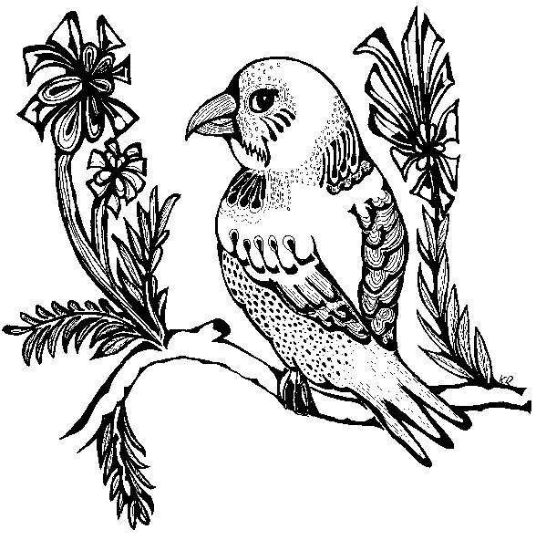 588x592 Drawings Ornosk Birds, Landscape, Weather