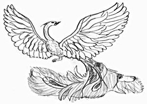 300x213 How To Draw A Fire Bird
