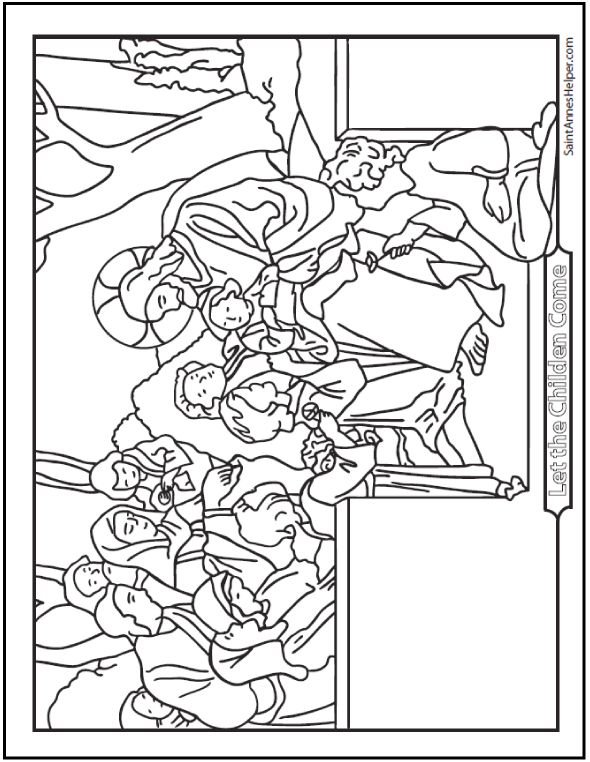 590x762 Jesus Loves The Little Children Coloring Page