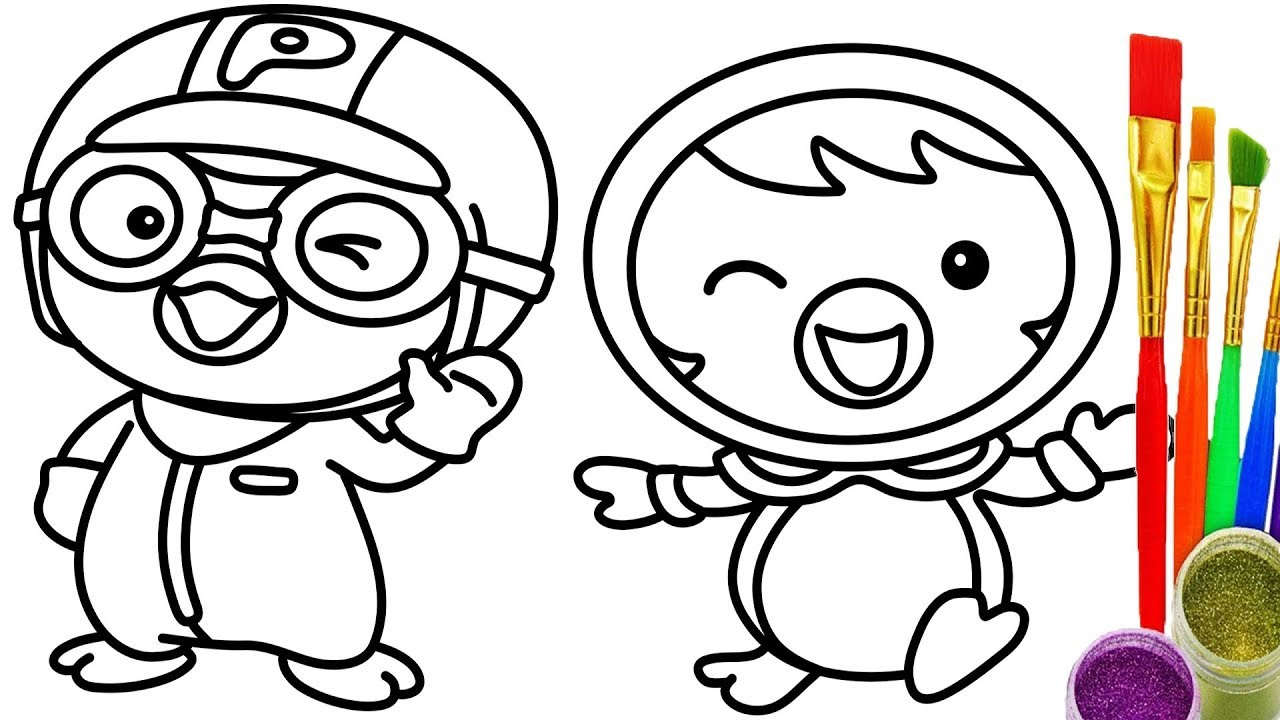 1280x720 How To Draw Pocoro Coloring Pages Kids Learn Colors