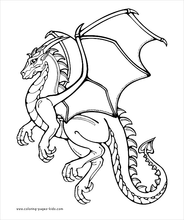 585x700 Dragon Drawing Template Free Pdf Documents Download! Free