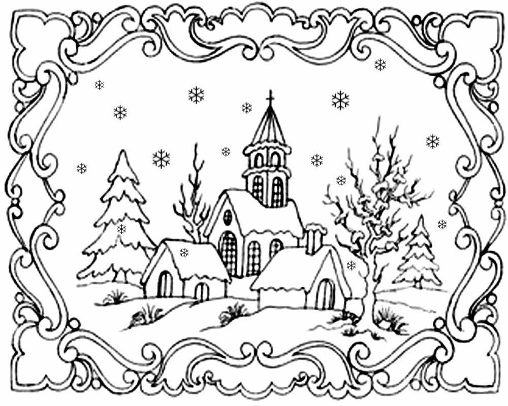 1000x800 Coloring Pages Christmas Scene New Free Coloring Pages Printable