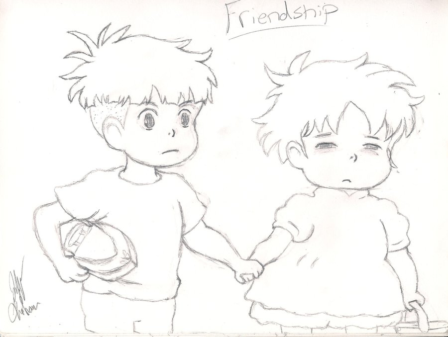 900x678 Photos Friendship Sketch,