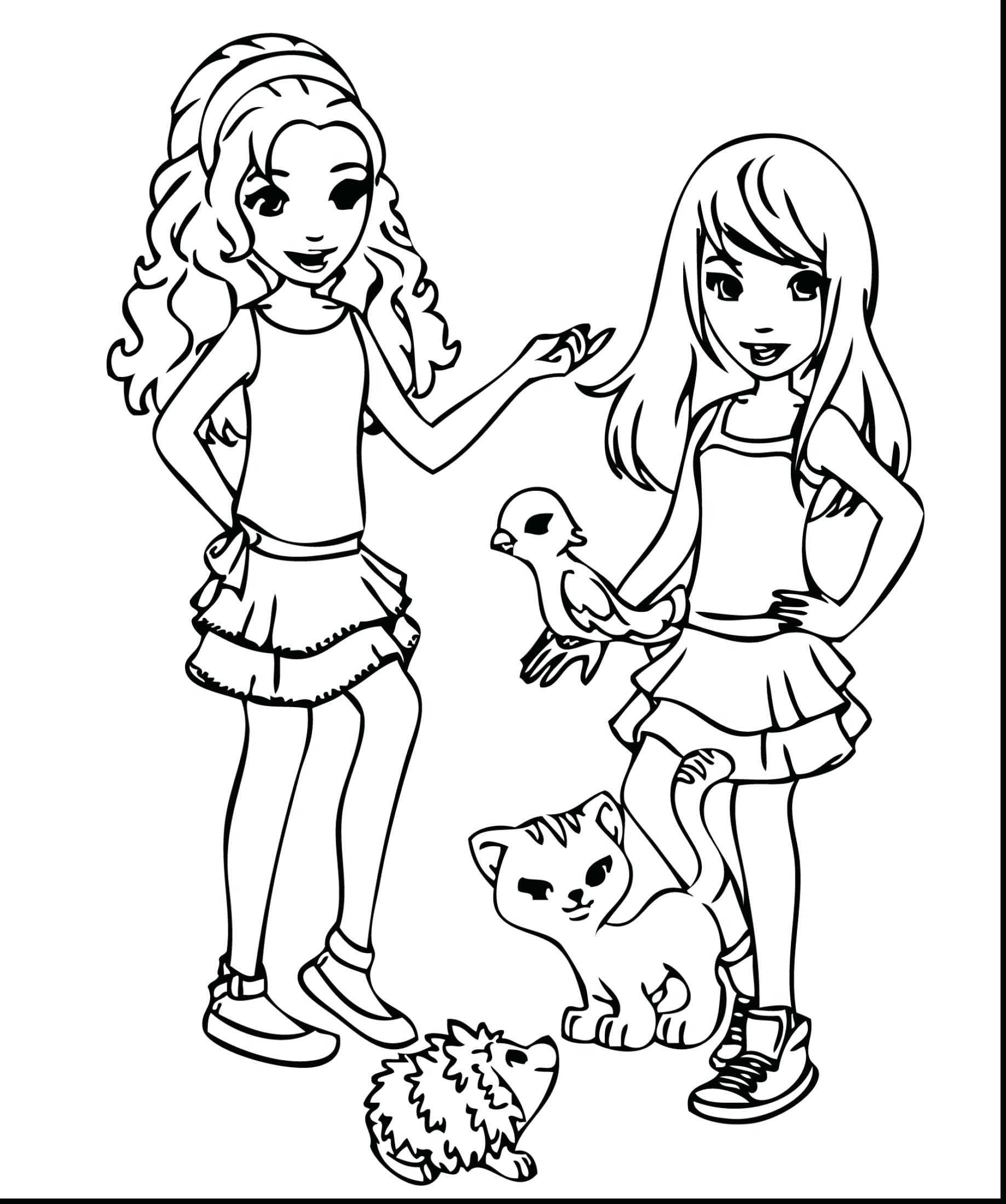 1838x2200 Coloring Friend Coloring Page Friendship Luxury Surprising