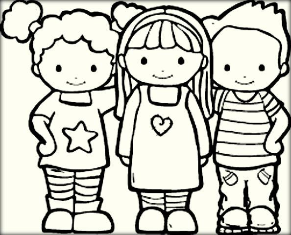 594x480 Best Friend Coloring Pages