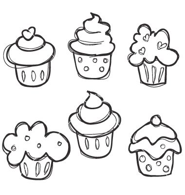380x400 Easy To Draw Cupcakes For The Kids. (Or Those Of Use Who Are