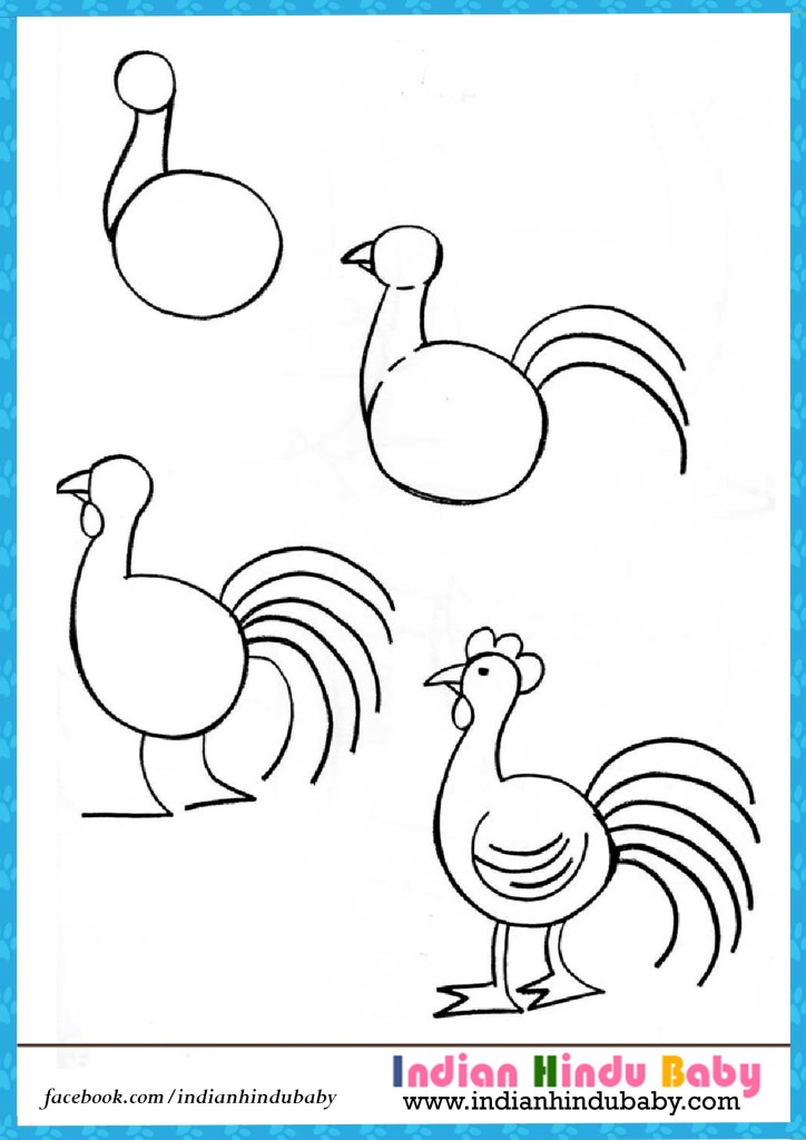 724x1024 hen step by step drawing for kids indian hindu baby