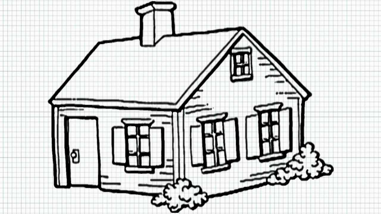1280x720 Easy House Drawings In Pencil How To Draw A House For Kids