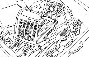 337x216 Everybody's Junk Drawer Sketch Book Middle School
