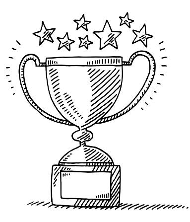 383x447 Trophy Achievement Stars Drawing Sketchbook Ideas For Middle