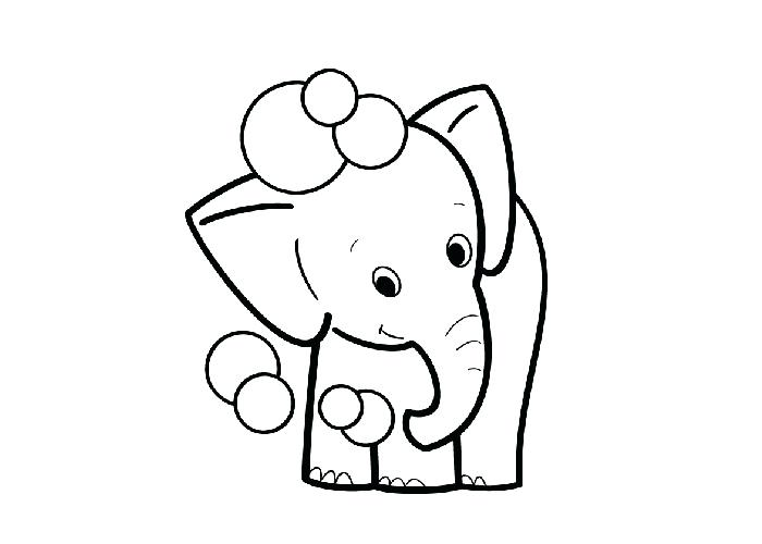 700x500 Elephant Coloring Pages Baby Elephant Drawing For Kids Elephant