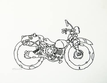 375x291 Motorcycle Drawings For Sale Saatchi Art