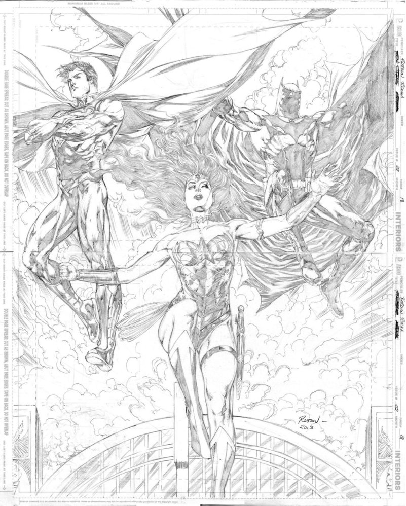 801x998 Superman Wonder Woman And Batman