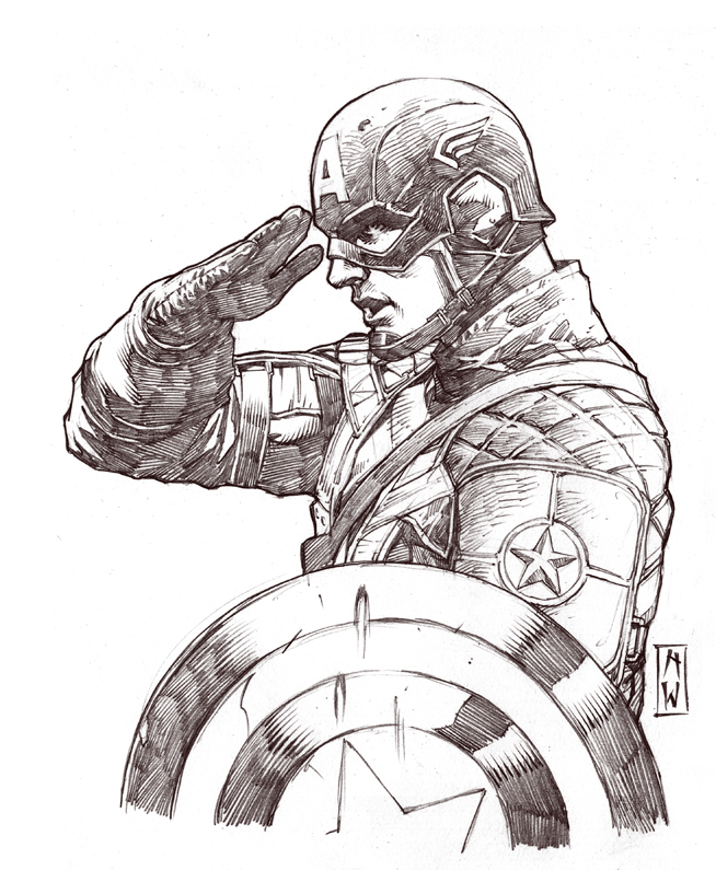 654x795 Captain America Sketch By