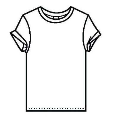 381x410 T Shirt Coloring Page