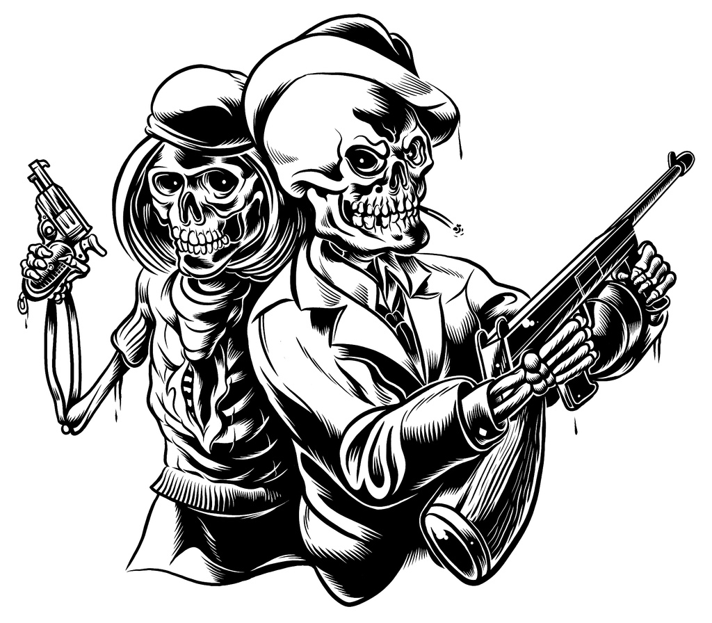 Bonnie And Clyde Tattoo: Drawing For Tattoos At GetDrawings